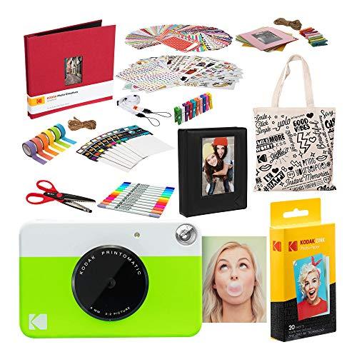 Kodak PRINTOMATIC Sofortbildkamera (Grün) Deluxe-Sammelalbum-Bundle