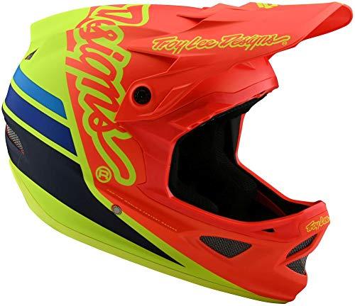 Troy Lee Designs D3 Casque Large Fiberlite Silhouette Orange/Yellow BMX MTB DH Downhill