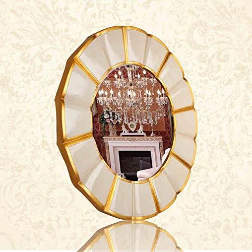 YBGW Wandspiegel Dekorativ Runder Badezimmerspiegel Wandbehang Hotel Dekorativer Spiegel Wc Waschspiegel Dekorativer Spiegel Wandspiegel Badspiegel