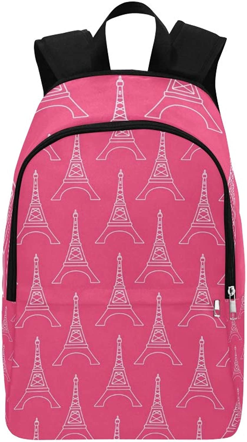 Eiffel Tower Shapes Casual Daypack Travel Bag College School Backpack for Mens and Women