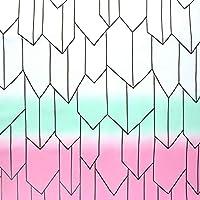 日本紐釦貿易 矢絣 バタフライグラデーション NBK 生地 布 コスプレ 白×緑×桃 コスプレ 巾約112cm×4m切売カット IBK99078-6A-4M