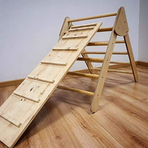 Triángulo- Escalera Pikler plegable. Fabricado en España.