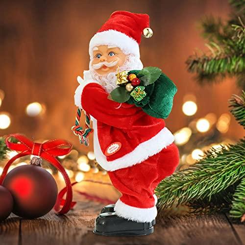 santa fortunata Hundred Fortune Electric Christmas - Santa Claus Ass Twisting Portable Singing Santa Doll