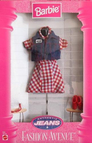 Barbie Fashion Avenue Authentic Jeans Fashions Collection W Dress, Denim Vest & More (1997)