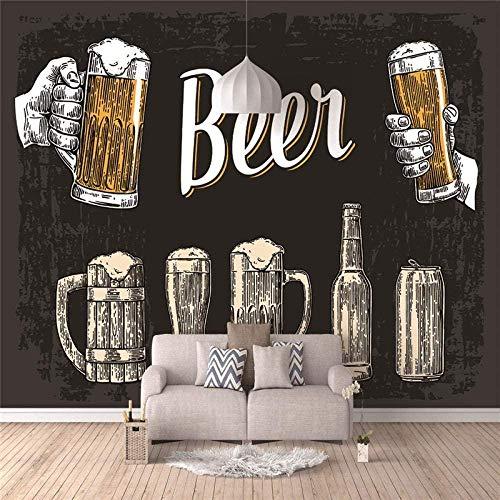Fototapete 3D Wallpaper Bier Wandbild Vlies Poster Modernes Design Wandbilder Wandbilder Wohnzimmer Schlafzimmer Büro Wand Wohnkultur-200x140cm
