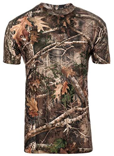 Performance Camo Jagd-Shirt: Kurzarmhemd Eingebettet EPA-genehmigt Insektenabwehr – schützt vor Mücken, Zecken mehr – Perfektes Jagdshirt – Hirschjagd Ausrüstung, Herren, Camouflage, XX-Large