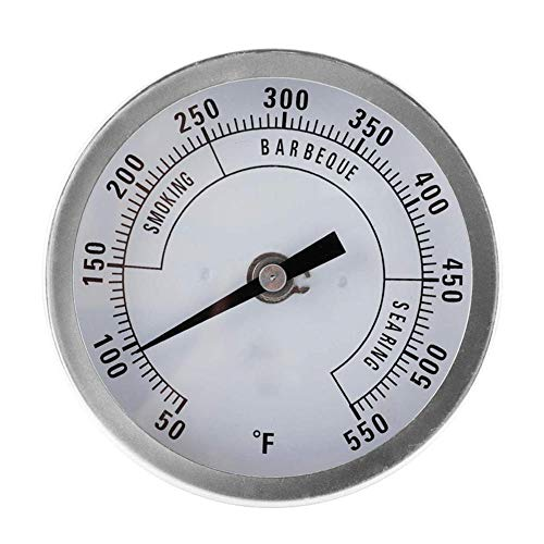 Termómetro para horno Termómetro para hornear de lectura instantánea Termómetro de puntero 50-550 ℉ Parrilla de barbacoa de acero inoxidable Monitor de horno / humo Temperatura de carnes y aves