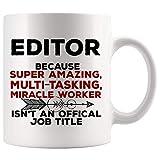 Taza Editor Best Ever - Amazing Miracle Not Job Title Gift for World Best Video Film Audio Sound Taza de café Jefe Edición divertida mamá papá futuro jubilación