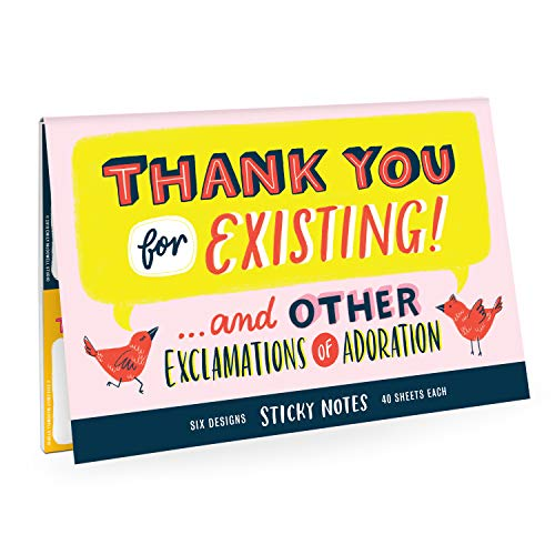 Emily McDowell & Friends Thank You Sticky Note Packet, 6 Sticky Pads, 40-Sheets Each