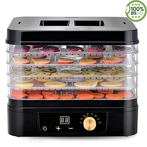 Fantastic Deal! Food Dryer, Household Small Dried Fruit Machine 5 Layer Food Grade Tray 24 Hours Sup...