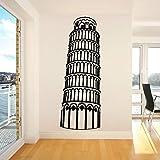 Torre inclinada de Pisa Italia Edificio emblemático Atracciones Etiqueta de la pared Vinilo Arte Calcomanía Niño Dormitorio Sala de estar Oficina Estudio Club Decoración para el hogar Mural