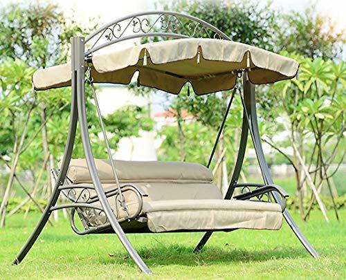 DEKO VERTRIEB BAYERN XXL Luxus Premium Hollywoodschaukel Set Gartenschaukel inkl. Sitzauflage inkl. Lieferung