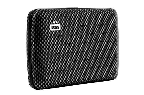 Ögon Smart Wallets - Stockholm V2 Cartera Tarjetero - Protección RFID: Protege Tus Tarjetas de Robar - hasta 10 Tarjetas + Recetas + Notas - Aluminio anodizado (Taffeta)