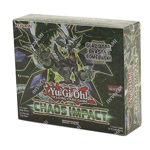 Yugioh Chaos Impact Booster Box 1st Edition TCG 24 Packs Factory Sealed