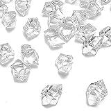 Xinlie Künstliche Acryl Eiswürfel Plastikeiswürfel Dekosteine Diamanten Tischdeko Deko Glassteine Deko Diamanten Kristalle Diamanten Für Vase Füller und Tischdekoration ca. 820 Stück (Durchsichtig) - 3