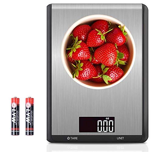 ANGOO Lebensmittelwaage Digitalgewicht Gramm und Unzen, Max 10kg Digitale Küchenwaage Kochen Waage Backwaage Fleischwaage