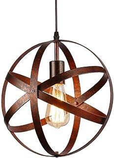 Suspension Luminaire Industrielle Lustre Industriel Suspension Lampe Abat-jour Lustre Avec Douille E27 Applique Cuisine Ba...