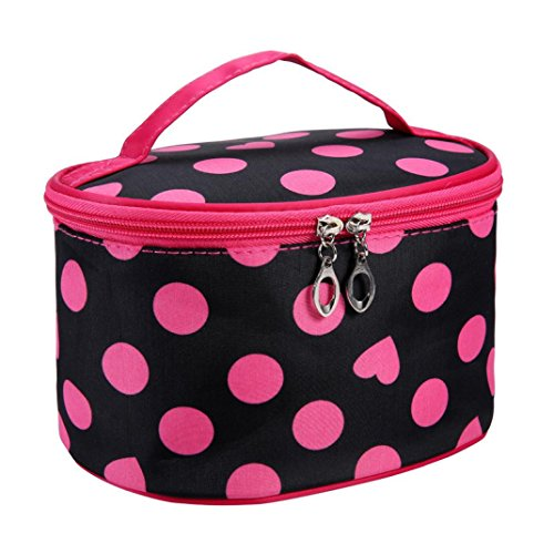 Fulltime® Imperméable Femmes Retro Pro Maquillage Dot Beauty Case Grand Cosmetic Toiletry Bag (HOT)