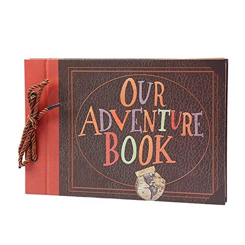 Nrpfell Hecho Una Mano DIY Album Paste Vintage Tether Album Our Adventure Book Up Family Scrapbook Photo Album