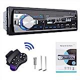 RDS Autoradio Bluetooth Manos Libres Radios de Coche por Plástico y Aleación de Aluminio, Lifelf Radio Estéreo 4 x 65 W 1 DIN con Reproductor de MP3, Control Remoto WMA FM, Dos Puertos USB