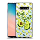 Head Case Designs What The Guac All About Avocados Soft Gel Case Compatible with Samsung Galaxy S10+ / S10 Plus