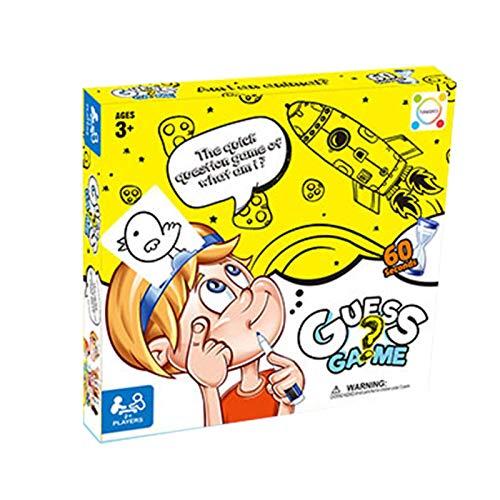 AIKY Ratet Mal, Wer Ich Bin Kartenspiel | Bild Erraten Brettspiel | Fun Original Guessing Eltern-Kind-Spiel Für Familien Und Kinder