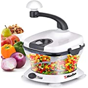 Mueller Ultra Heavy Duty Chopper/Cutter, Fastest, Easiest to Use, Chops Everything, Vegetable, Nuts, Herbs with Built-In Egg White Separator