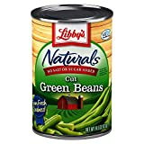 Libby's Naturals Cut Green Beans | No Added Salt, No Added Sugar | Naturally Delicious, Mild & Subtly Sweet | Crisp-Tender Bite | No Preservatives | Grown & Made in U.S. | 14.5 ounce can (Pack of 12)