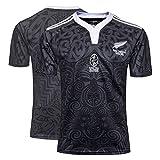 ZYJL Jersey de Rugby Nouvelle-Zélande Maori WM Jersey de Rugby pour Hommes de la Coupe du Monde Jersey de Rugby, T-Shirt de Rugby pour 100 Ans (S-3XL) XXL