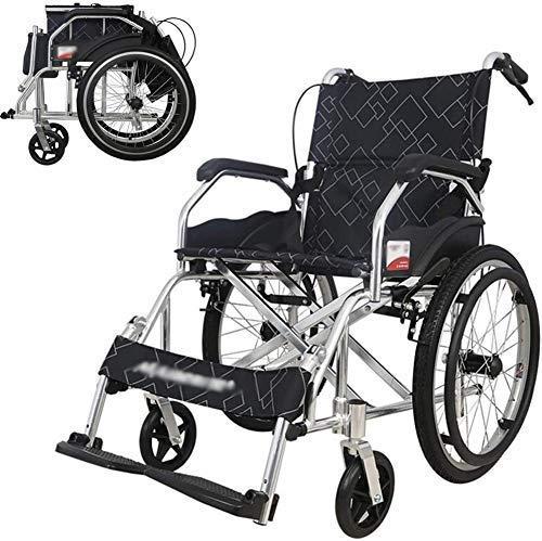 WXDP Autopropulsado ligero tránsito auxiliar suministros plegable ligero anciano discapacitado libre inflable, minusválidos manual portátil avión de viaje Tro
