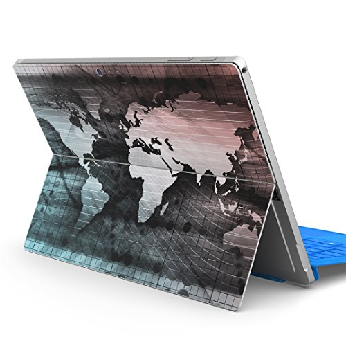igsticker Decal Cover for Microsoft Surface Pro 7(2019)/ Pro 6 /Pro 2017/ Pro 4/Ultra Thin Protective Body Sticker Skins 004911 map Illustration World