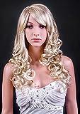 Forever Young Ladies peluca de mezcla largo rosado rizos peluca