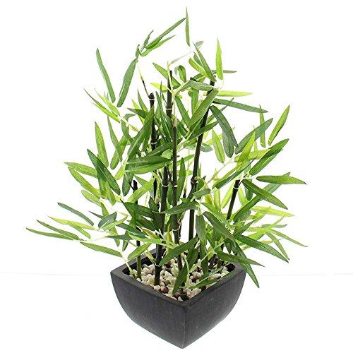 SIDCO Künstlicher Bambus Kunstpflanze Fensterdeko Zimmerpflanze Kunstbaum Deko Pflanze