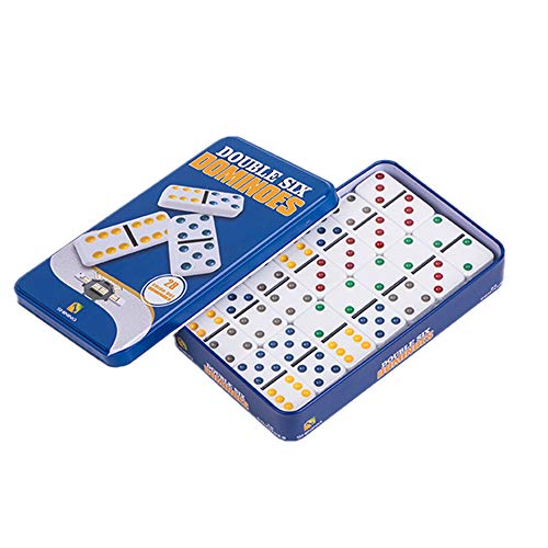 Yuanhe Double 6 Color Dot Dominoes with tin Box