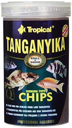Tropical Tanganyika Chips - Zutatenreiche, sinkende Spezialfutter-Chips für große Tanganjikasee-Cichliden, 1er Pack (1 x 1 l)