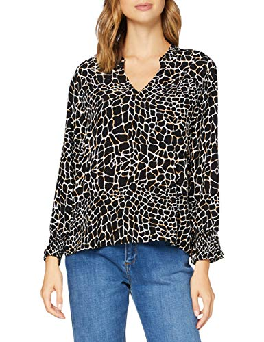 comma Damen 85.899.19.1301 Bluse, 99B2 Black, 38