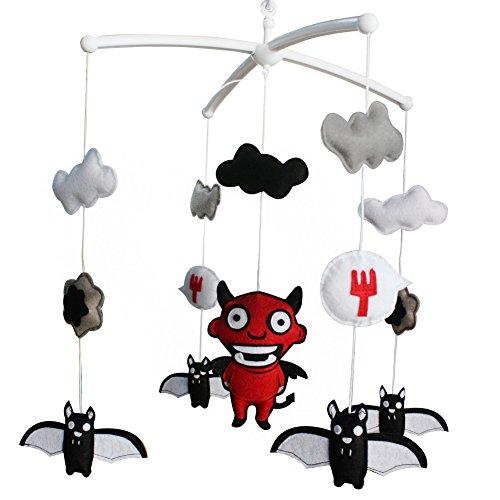 Baby Mobile Crib Mobile Handmade Musical Mobile Colorful Hanging Decoration Bat