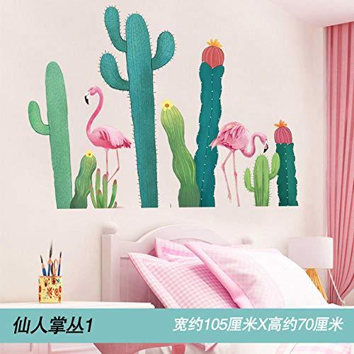 Nordischen stil wohnzimmer selbstklebende wandaufkleber kreative schlafzimmer ornament aufkleber Kaktus bush 1_Big