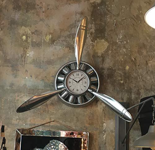 Wanduhr im Propeller Look aus Aluminium -Edition II, ohne künstlichen Rost- Focke-Wulf Frontpropeller Uhr