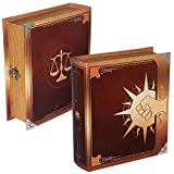 Grimoire Deck Box, Legion - Wooden Spellbook Style Large Capacity Trading Card...