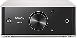 Denon PMA-60 Integrated Stereo Amplifier - Compact Design   50W x 2 Channels   Bluetooth Streaming, USB-B Input   Horizontal or Vertical Orientation   Included USB-A to USB-B Cable