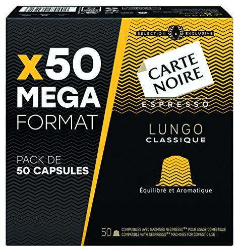 Carte Noire Café Lungo Classique N°6 - 50 capsules...