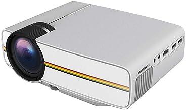 جهاز عرض Yg400 محمول وصغير الحجم بدقة 1080 بكسل مع تدفق ضوئي 1200 لومن شاشة كبيرة 130 بوصة للسينما المنزلية - ابيض