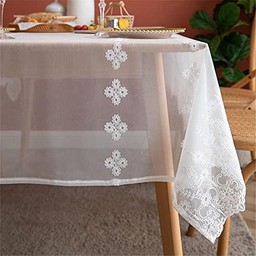 RHXJ Manteles blancos para mesas rectangulares cubierta boda decoración fondo foto blanco 150x240cm