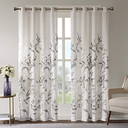 Gardinen Schals Voile Vorhänge mit Ösen Ösenschal Elegant Schlafzimmer Vorhang für große Fenster Cecily (2er-Set, je 245x140cm)