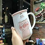 DONG - Taza de Porcelana en mármol Gris Jumbo Taza de café/Taza de té Grande...