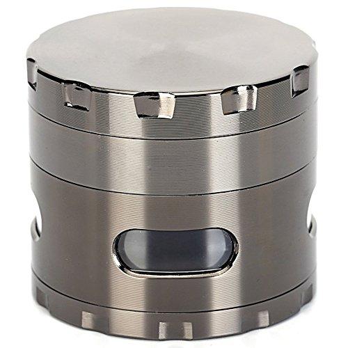 DCOU ハーブミル グラインダー たばこ/スパイス/胡椒/喫煙具用 クラッシャー 手巻き 4層 亜鉛合金