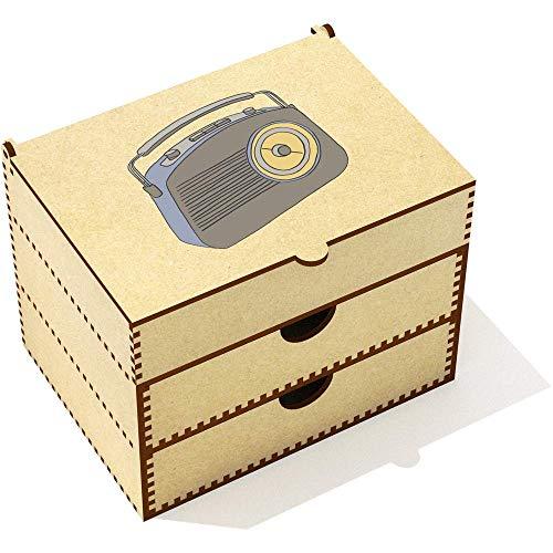Azeeda 'Radio Rétro' Boîte de Maquillage (VC00021381)