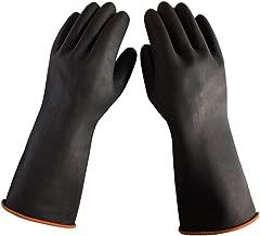 1 Paar zxyzky 60 cm schwarz lang Gummi wasserdichte Reinigungshandschuhe lang Latex Industrie S/äure Verschlei/ß-Handschuhe
