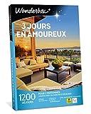 Wonderbox – Coffret cadeau duo - 3 JOURS EN AMOUREUX – plus de 1200 séjours en hôtels de charme, moulins, yourtes, roulottes, maisons d'hôtes authentiques pour 2 personnes